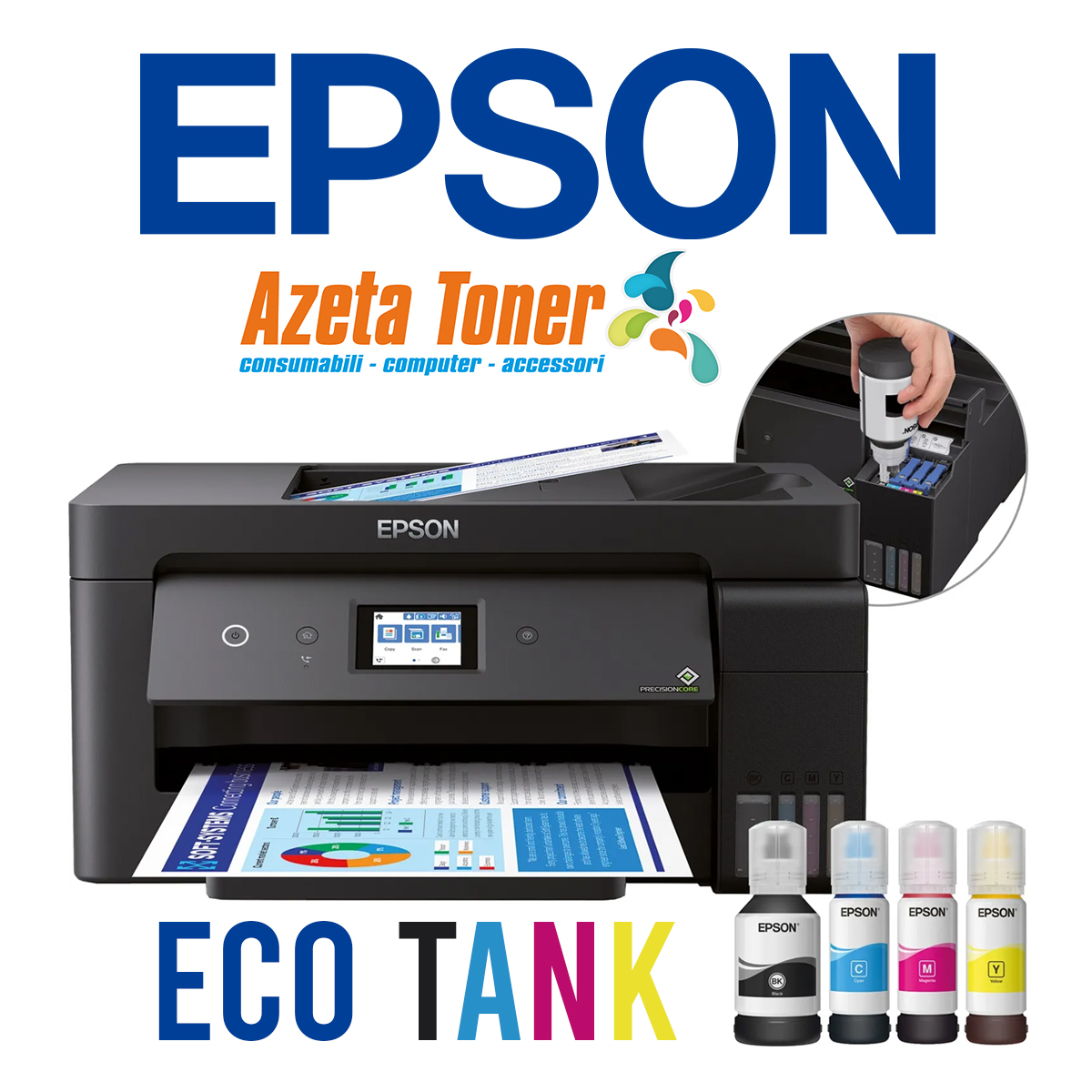 Reser livelli di inchiostro delle Epson Eco Tank